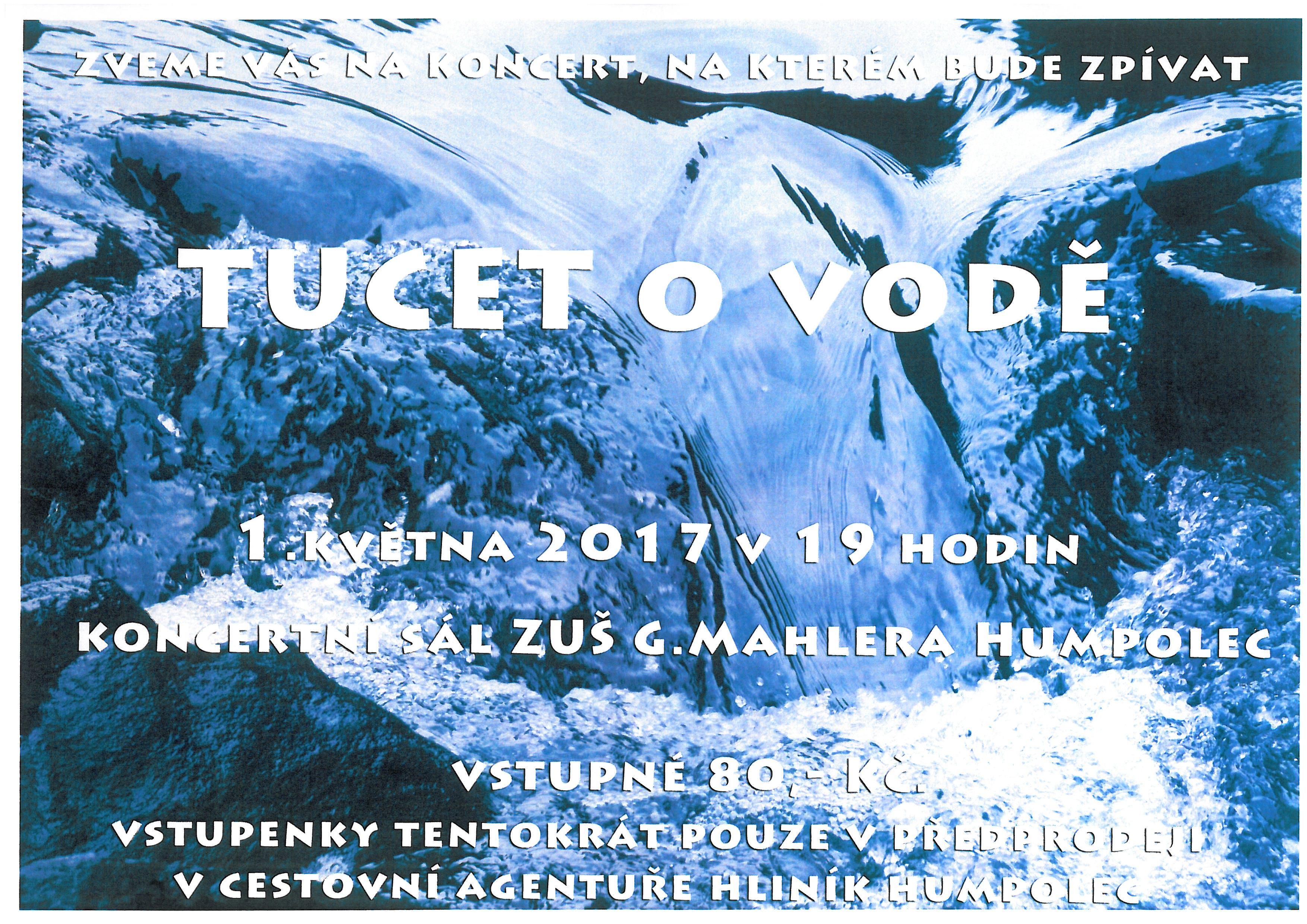 koncert TUCET o vodě